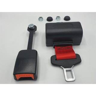 Lap belt automatic 1200mm bright red
